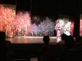 桜の下舞台装置